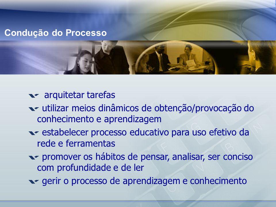 estabelecer processo educativo para uso efetivo da rede e ferramentas