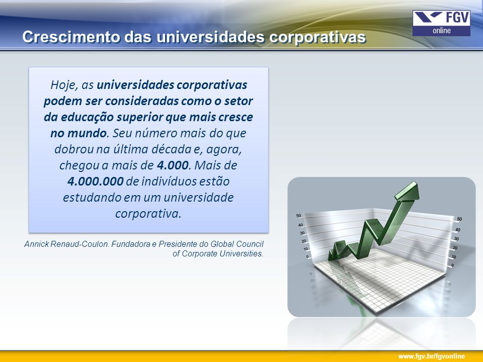 Crescimento das universidades corporativas