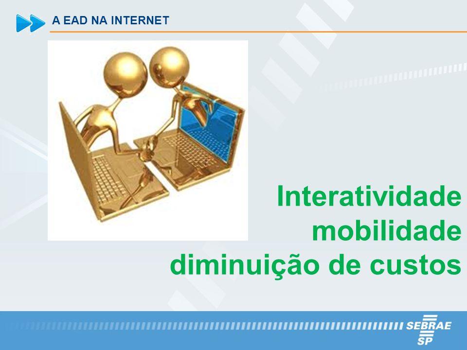 A EAD NA INTERNET Interatividade mobilidade diminuição de custos