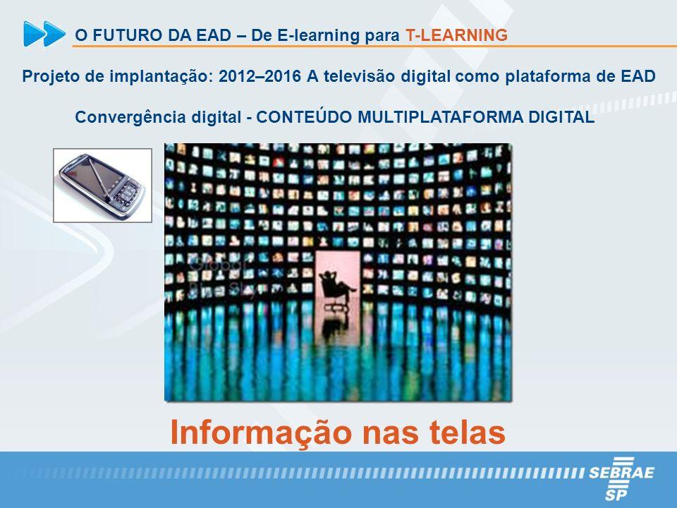 Informação nas telas O FUTURO DA EAD – De E-learning para T-LEARNING