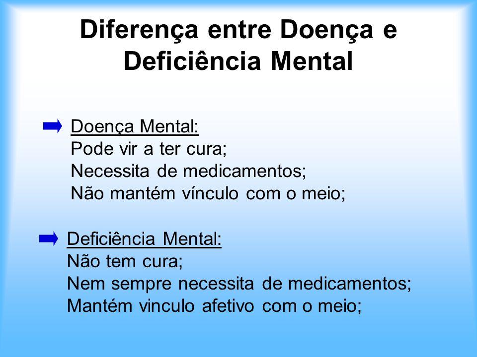 Diferença entre Doença e Deficiência Mental