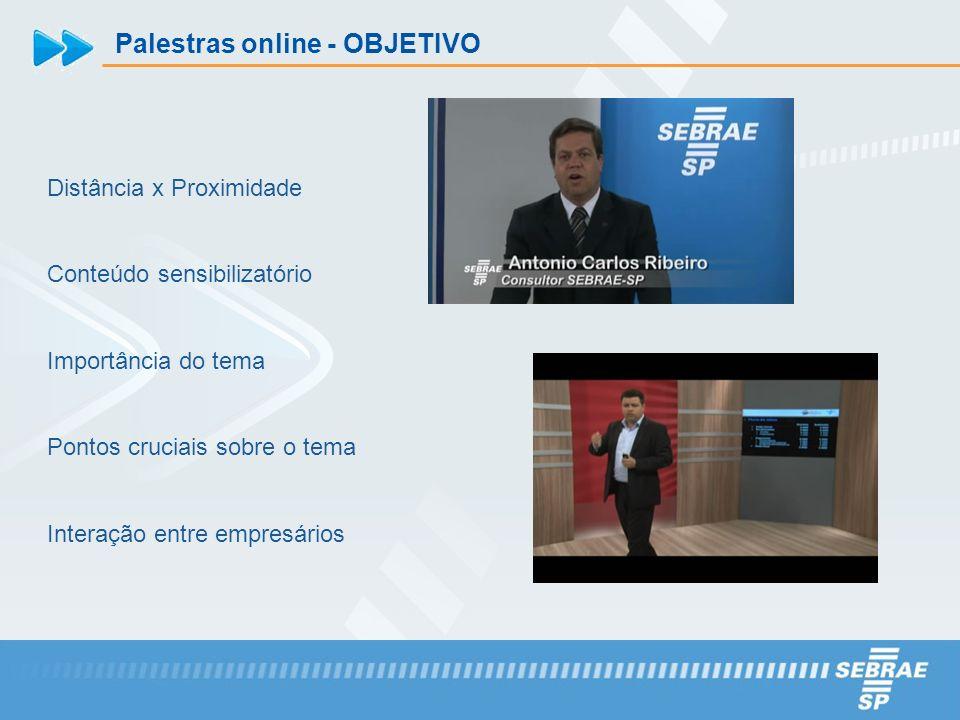 Palestras online - OBJETIVO
