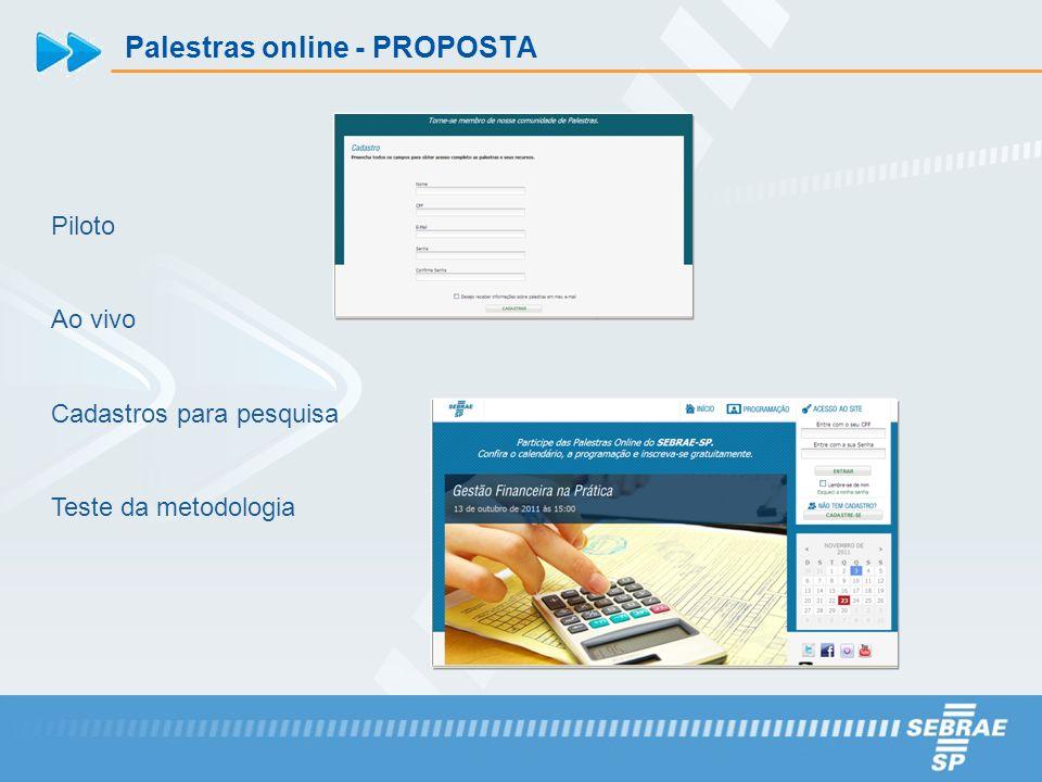 Palestras online - PROPOSTA