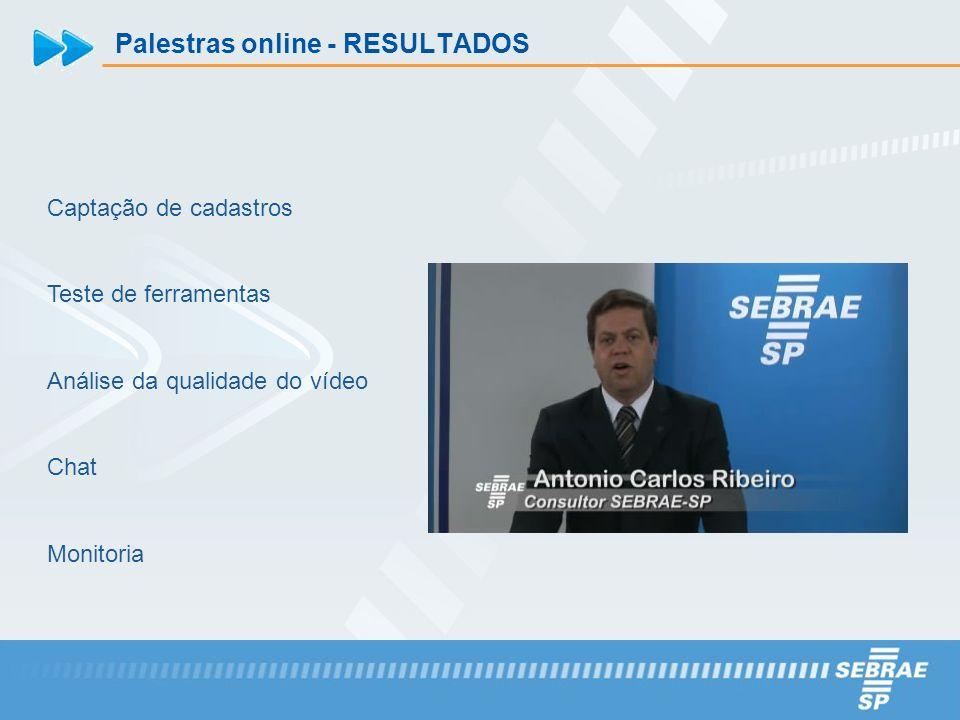 Palestras online - RESULTADOS