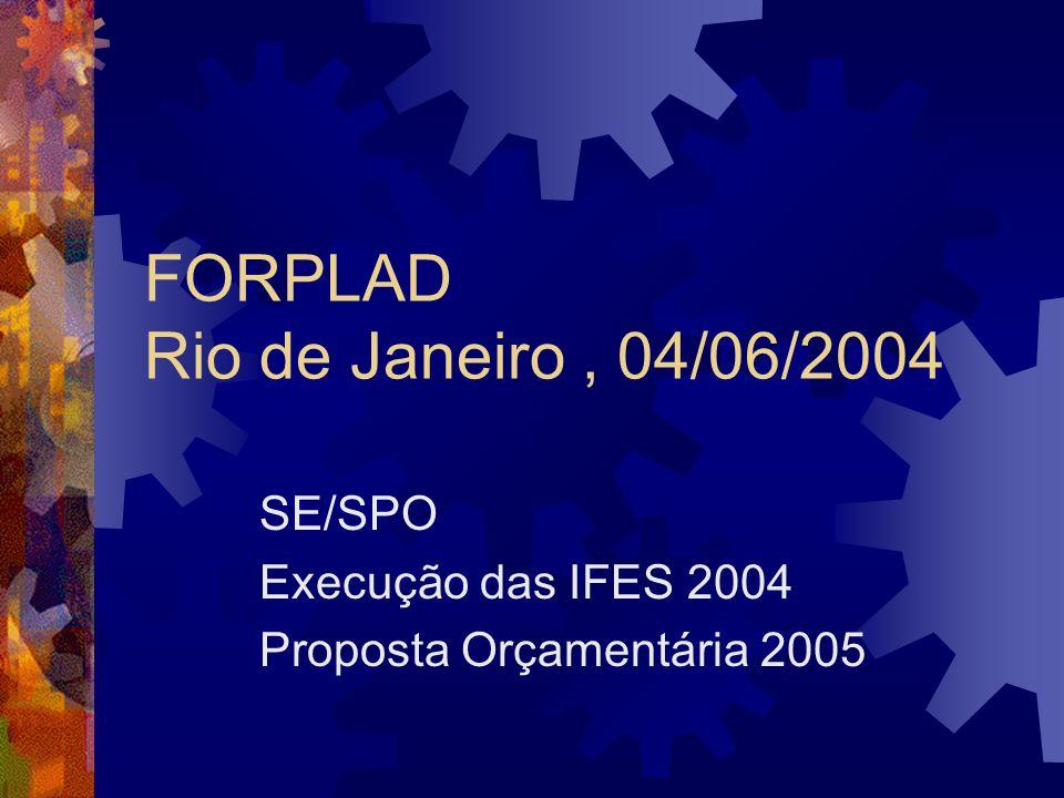 FORPLAD Rio de Janeiro , 04/06/2004