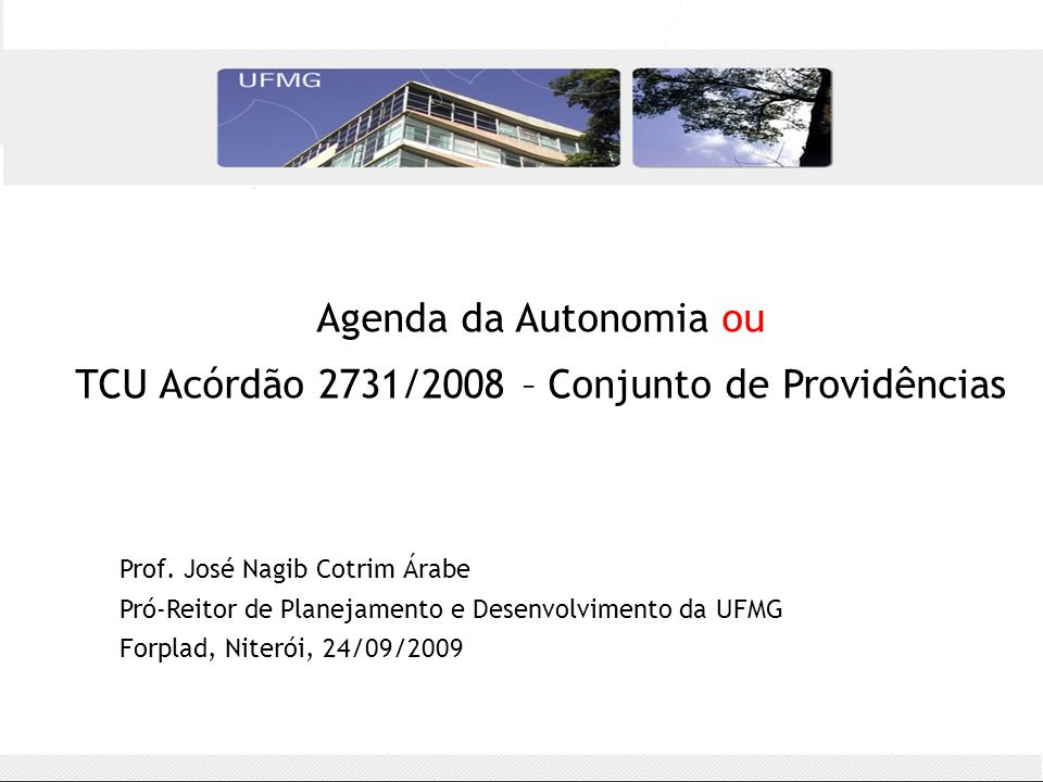 TCU Acórdão 2731/2008 – Conjunto de Providências