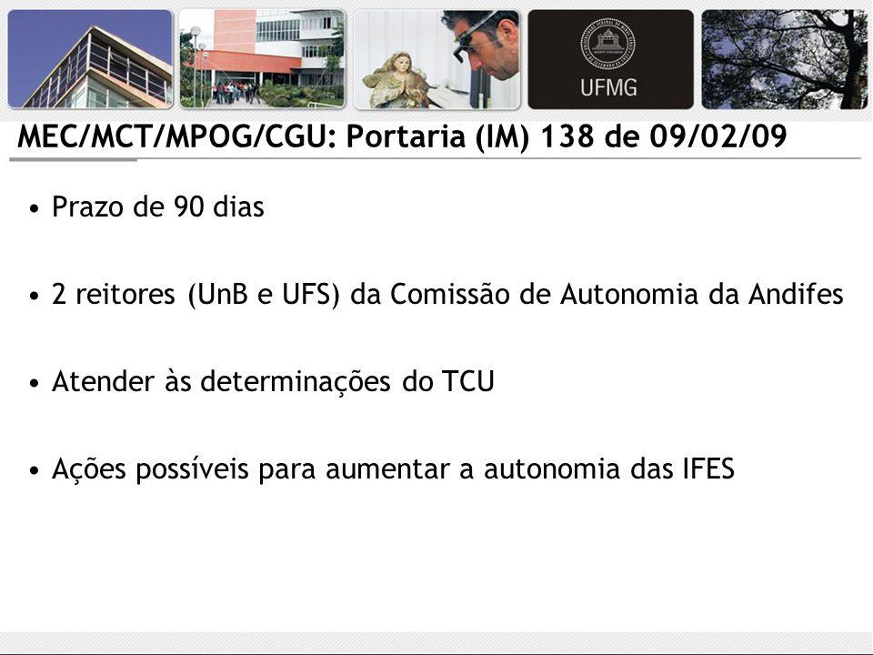 MEC/MCT/MPOG/CGU: Portaria (IM) 138 de 09/02/09