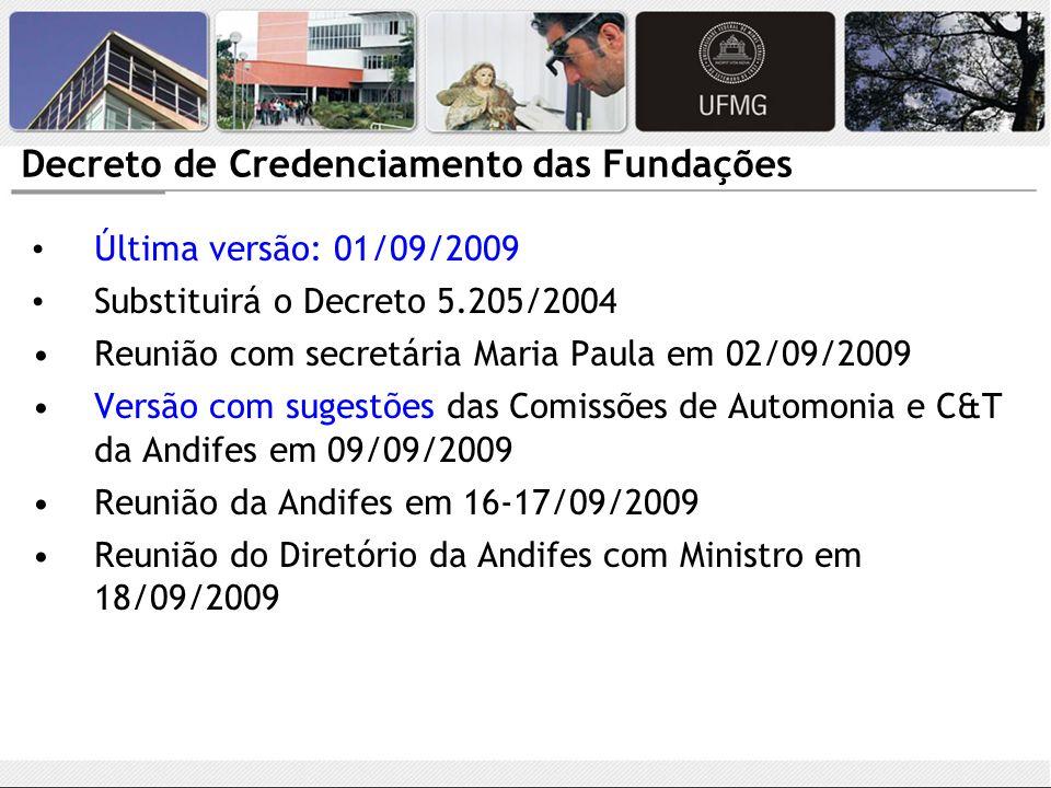 Decreto de Credenciamento das Fundações