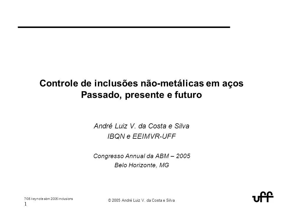 Controle de inclusões não-metálicas em aços Passado, presente e futuro