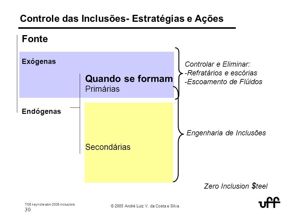 Controle das Inclusões- Estratégias e Ações