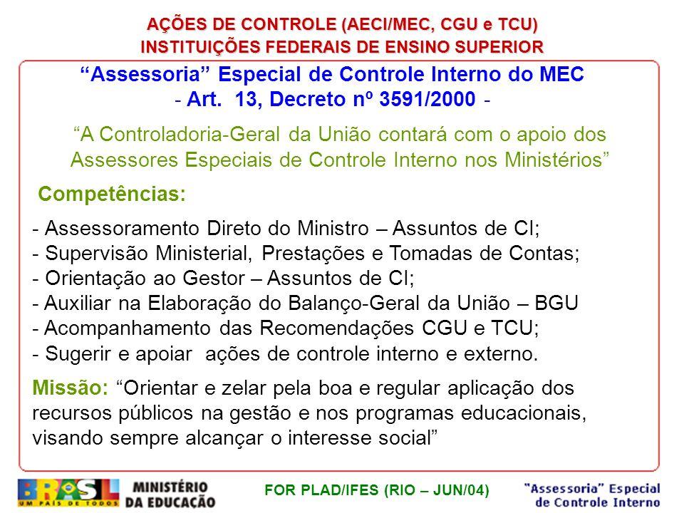 Assessoria Especial de Controle Interno do MEC