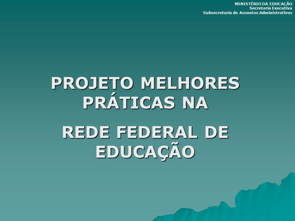 PROJETO MELHORES PRÁTICAS NA REDE FEDERAL DE EDUCAÇÃO