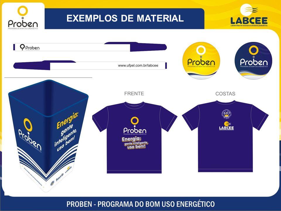 EXEMPLOS DE MATERIAL