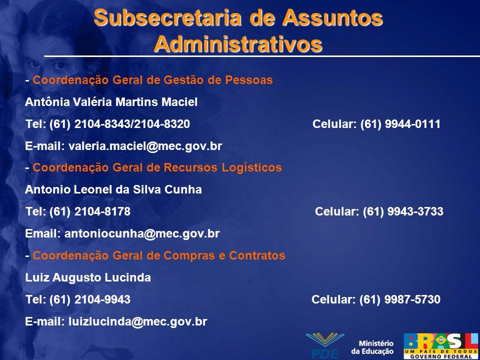 Subsecretaria de Assuntos Administrativos
