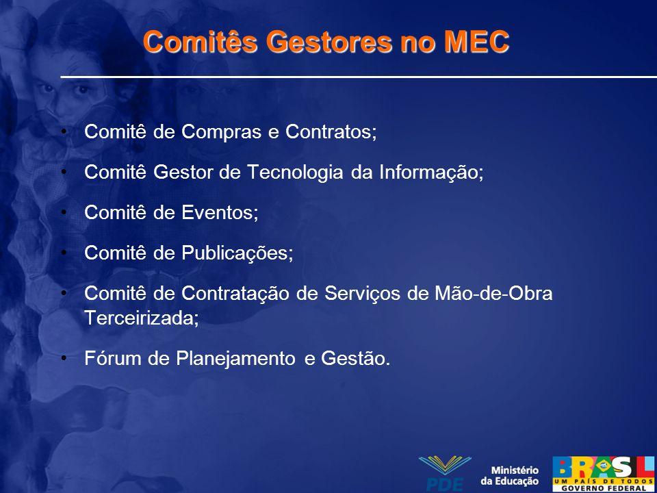 Comitês Gestores no MEC
