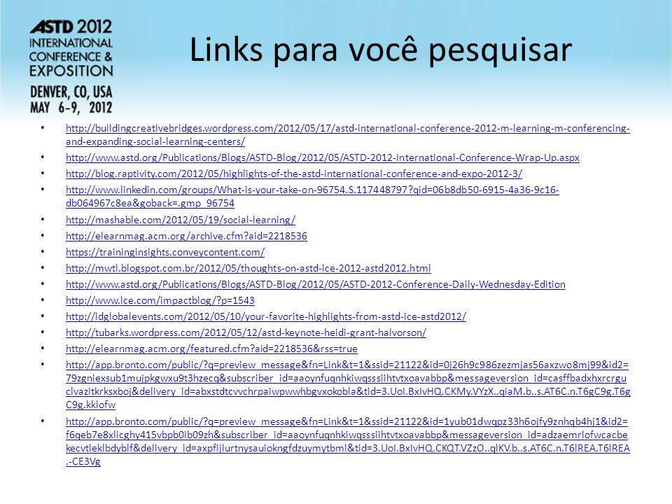 Links para você pesquisar