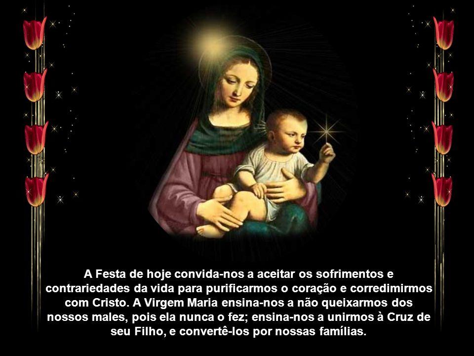 A Festa de hoje convida-nos a aceitar os sofrimentos e contrariedades da vida para purificarmos o coração e corredimirmos com Cristo.