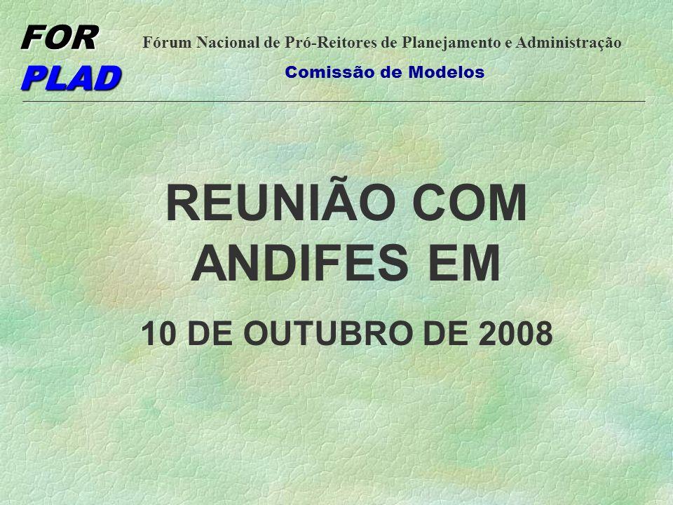 REUNIÃO COM ANDIFES EM 10 DE OUTUBRO DE 2008