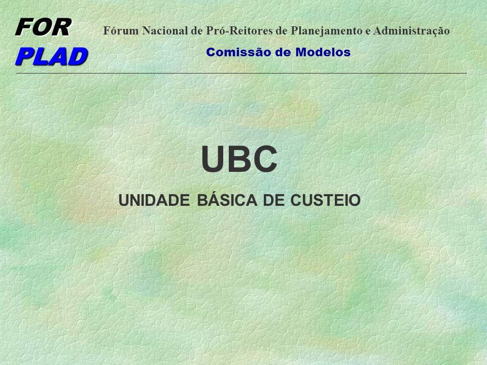 UNIDADE BÁSICA DE CUSTEIO