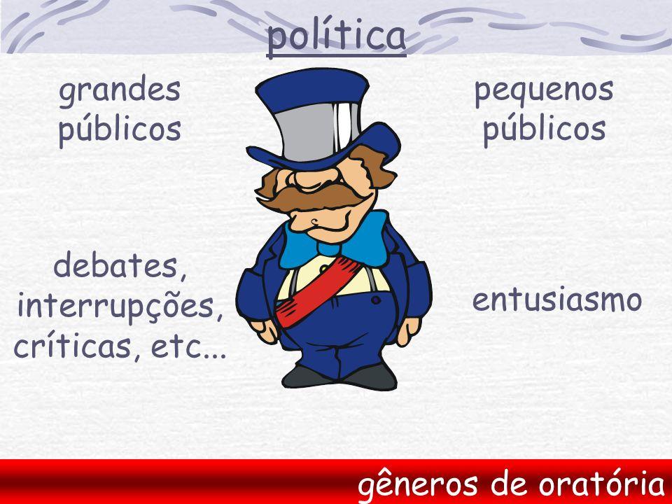 política grandes pequenos públicos públicos debates, interrupções,