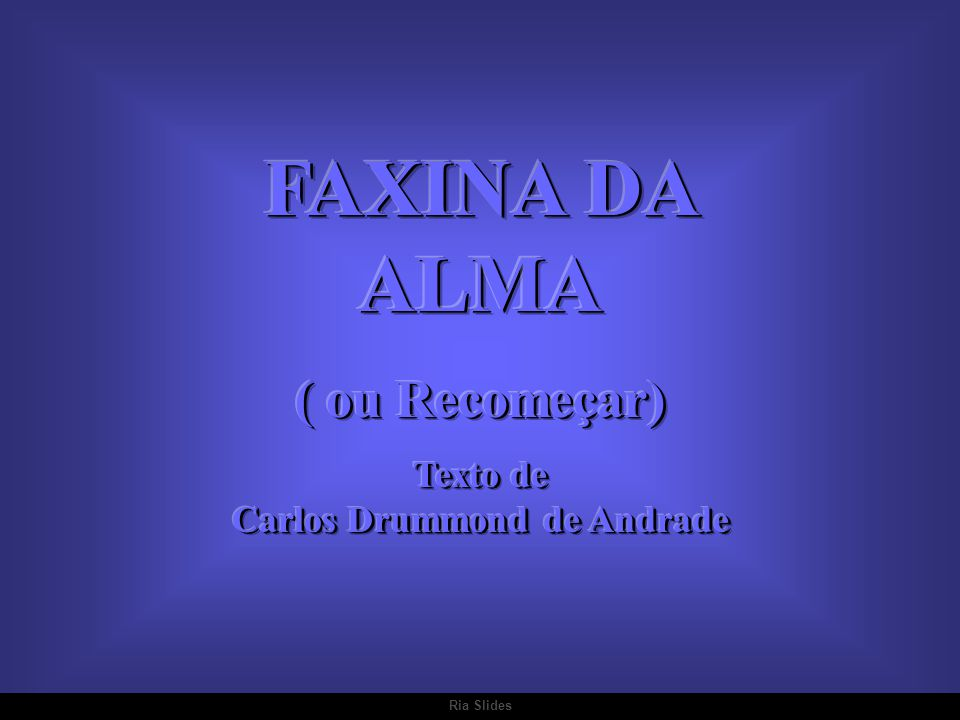 Texto de Carlos Drummond de Andrade