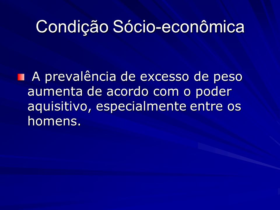 Condição Sócio-econômica