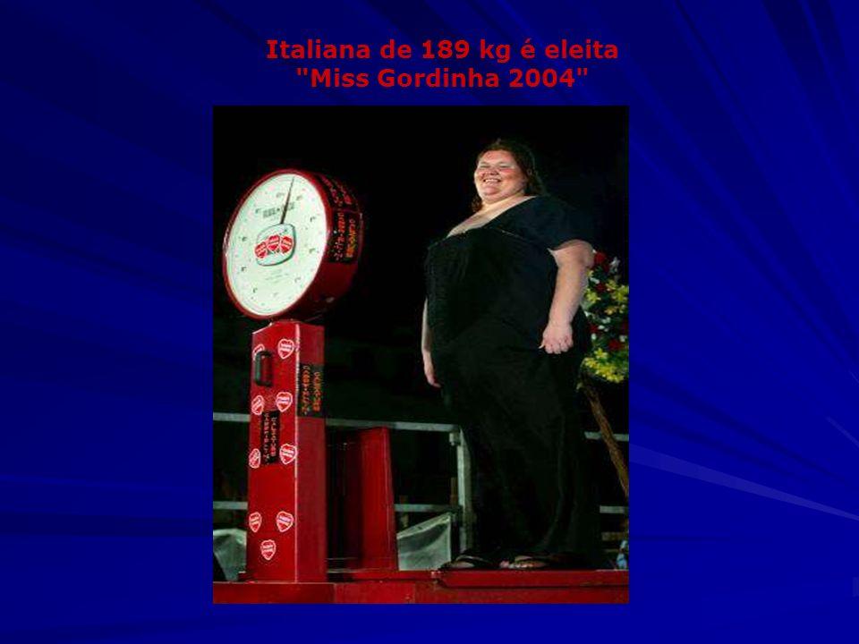 Italiana de 189 kg é eleita Miss Gordinha 2004