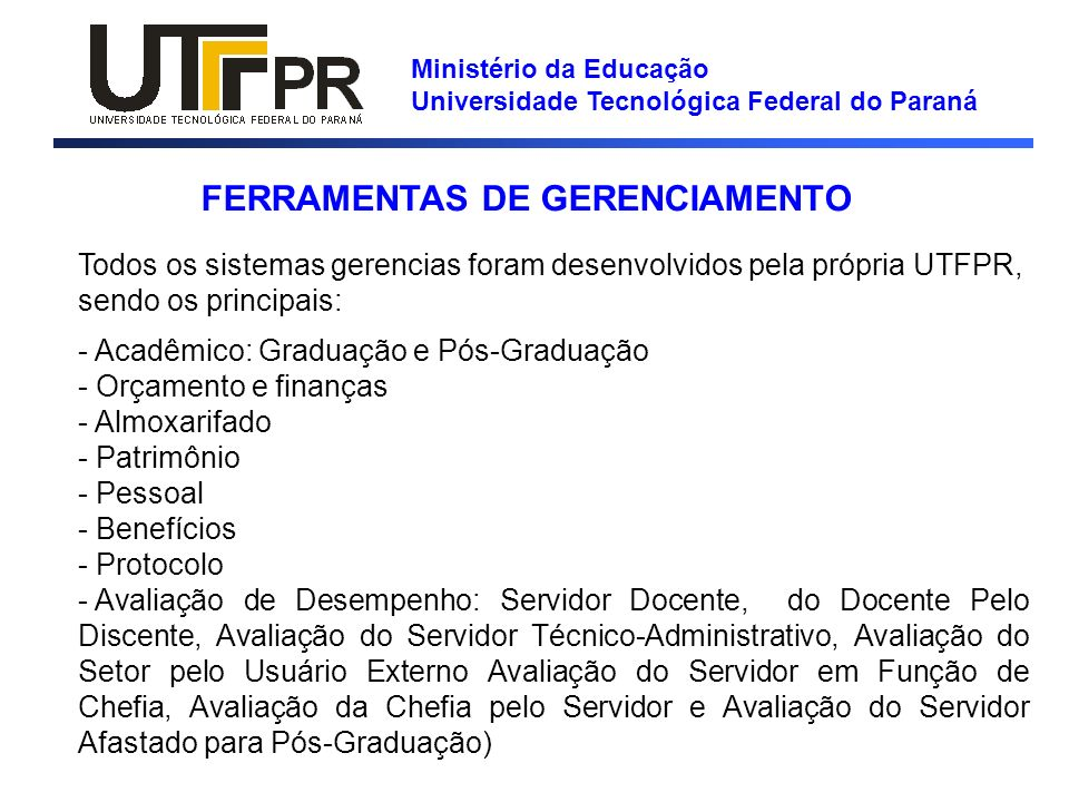 FERRAMENTAS DE GERENCIAMENTO