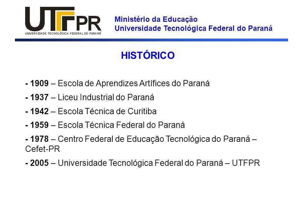 HISTÓRICO - 1909 – Escola de Aprendizes Artífices do Paraná