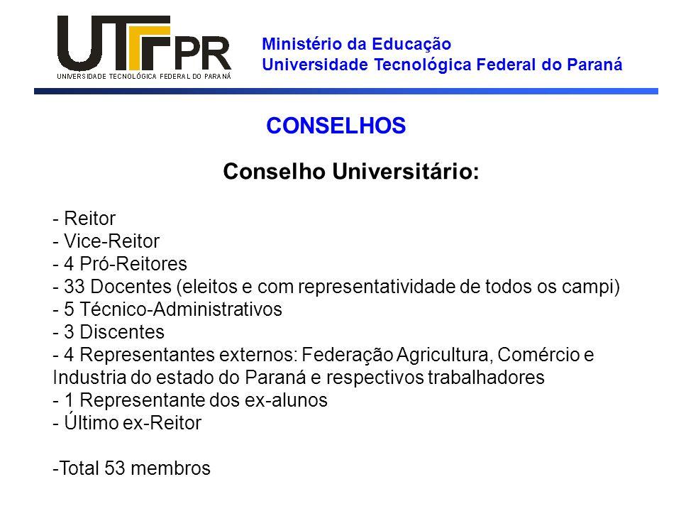 Conselho Universitário: