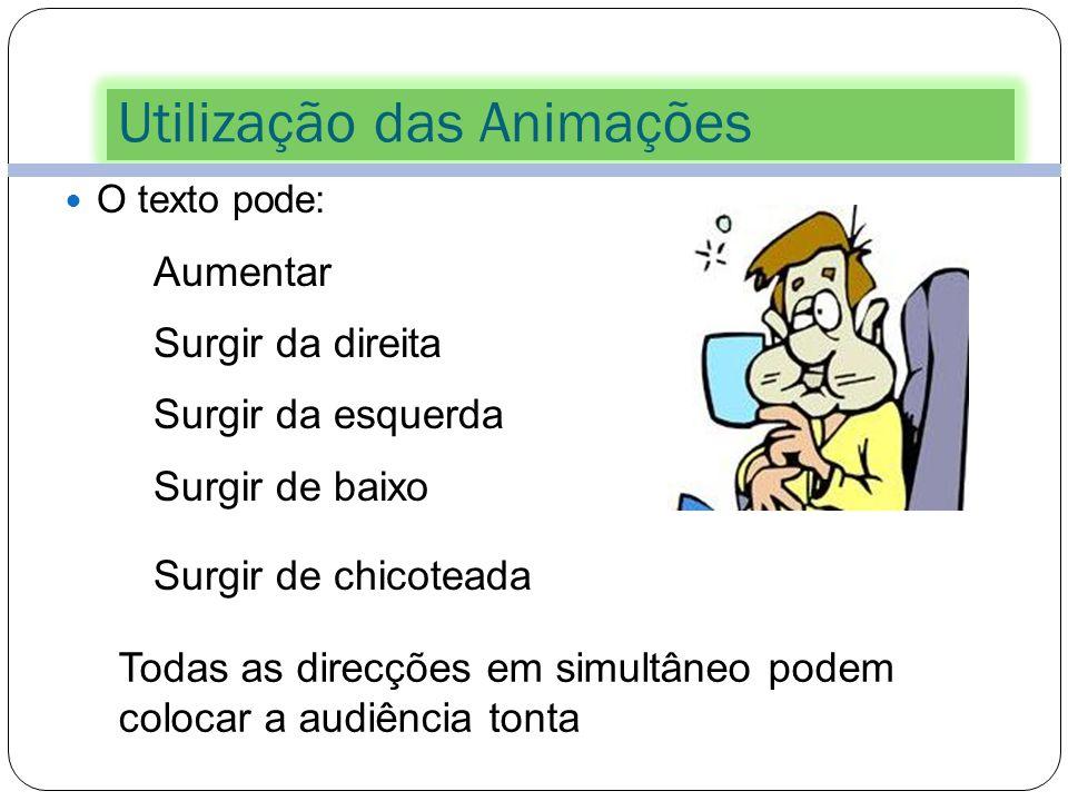 Utilização das Animações