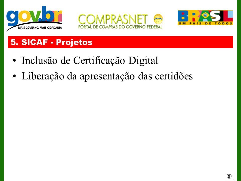 Inclusão de Certificação Digital