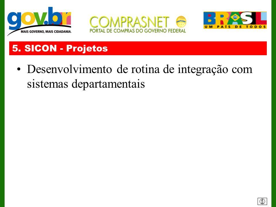 Desenvolvimento de rotina de integração com sistemas departamentais