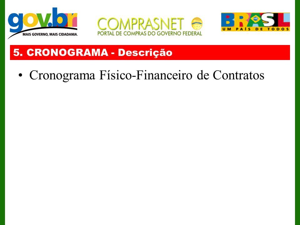 Cronograma Físico-Financeiro de Contratos