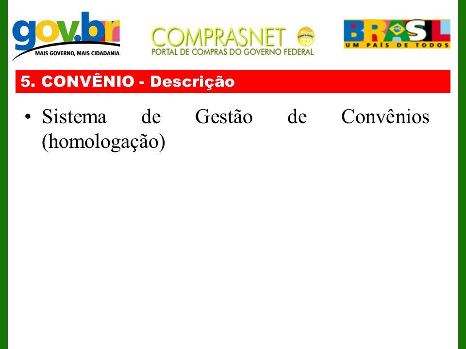 Sistema de Gestão de Convênios (homologação)