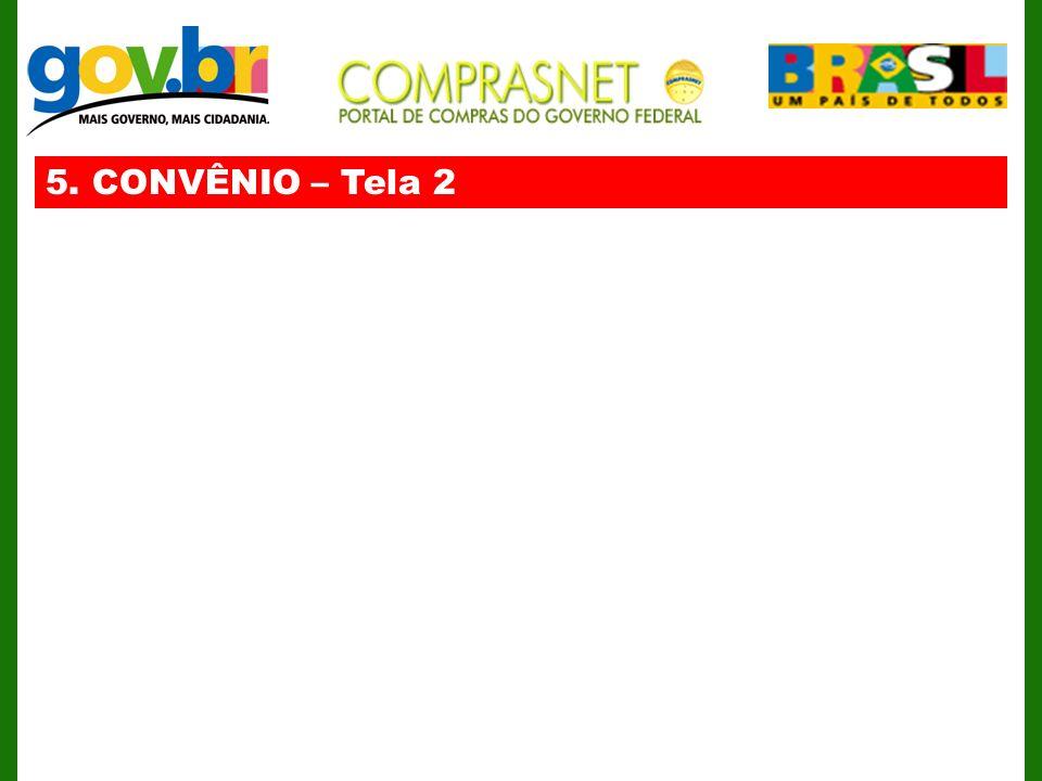 5. CONVÊNIO – Tela 2