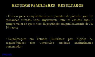 ESTUDOS FAMILIARES - RESULTADOS