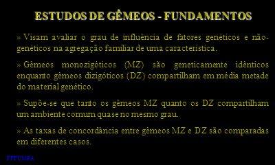 ESTUDOS DE GÊMEOS - FUNDAMENTOS