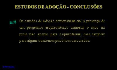ESTUDOS DE ADOÇÃO - CONCLUSÕES