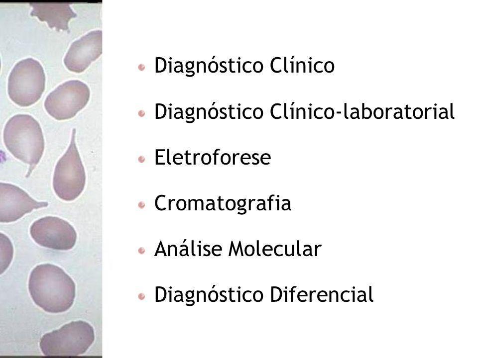Diagnóstico Clínico Diagnóstico Clínico-laboratorial. Eletroforese. Cromatografia. Análise Molecular.