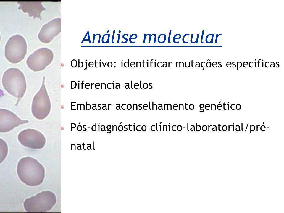 Análise molecular Objetivo: identificar mutações específicas