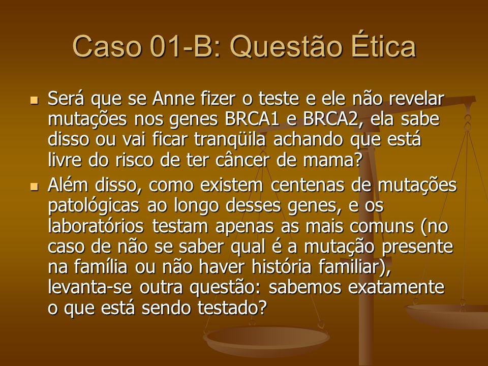 Caso 01-B: Questão Ética