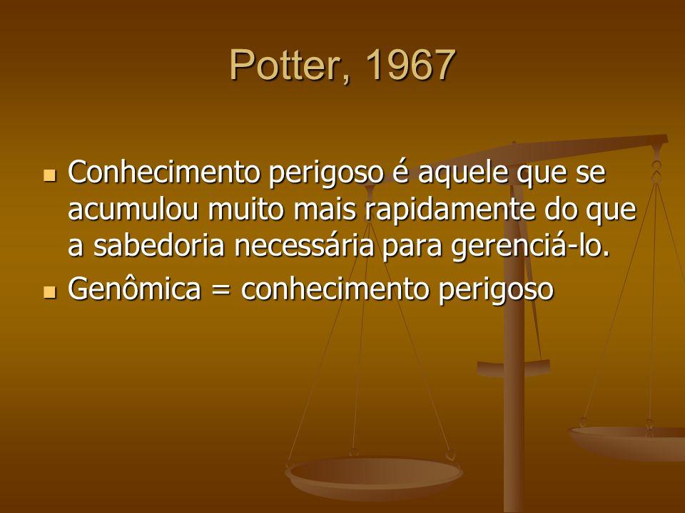 Potter, 1967Conhecimento perigoso é aquele que se acumulou muito mais rapidamente do que a sabedoria necessária para gerenciá-lo.