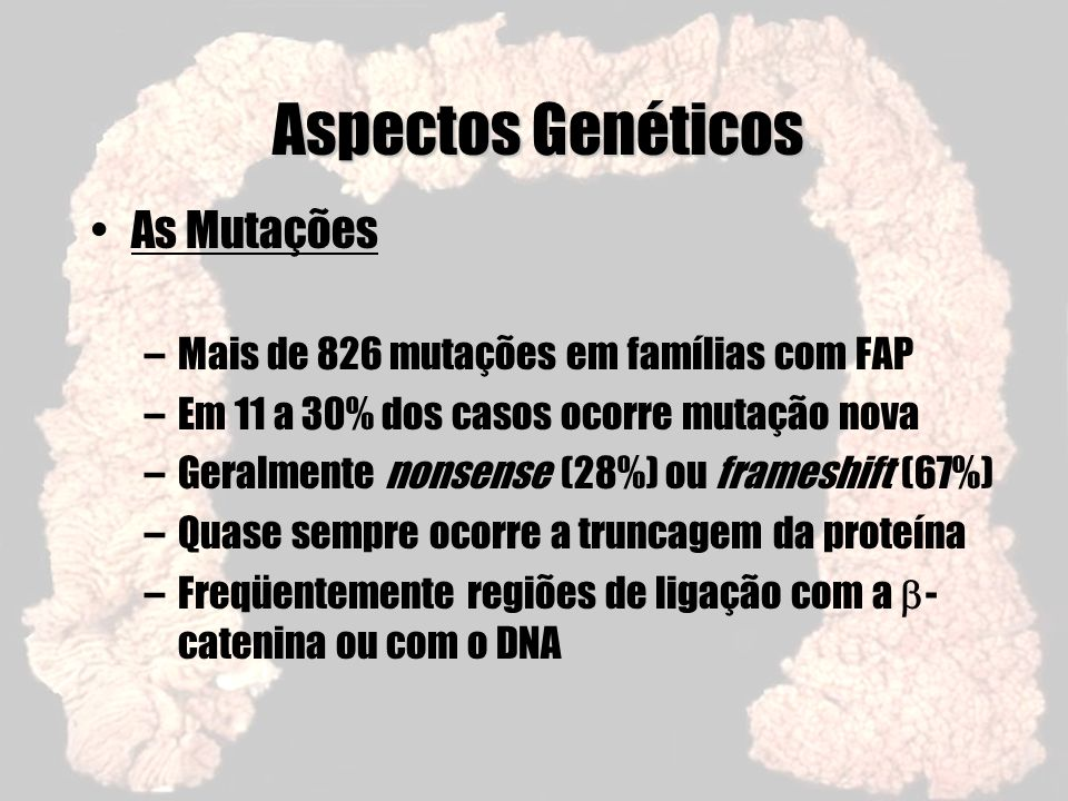 Aspectos Genéticos As Mutações