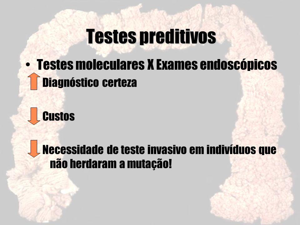 Testes preditivos Testes moleculares X Exames endoscópicos