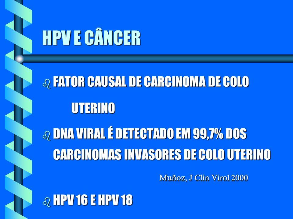 HPV E CÂNCER FATOR CAUSAL DE CARCINOMA DE COLO UTERINO