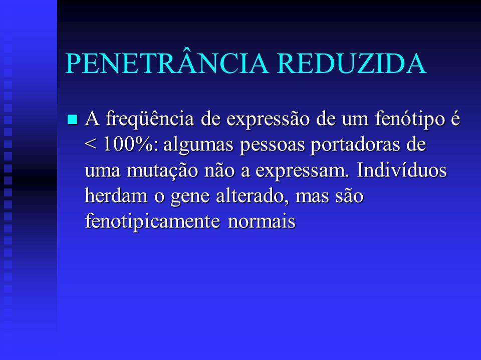 PENETRÂNCIA REDUZIDA