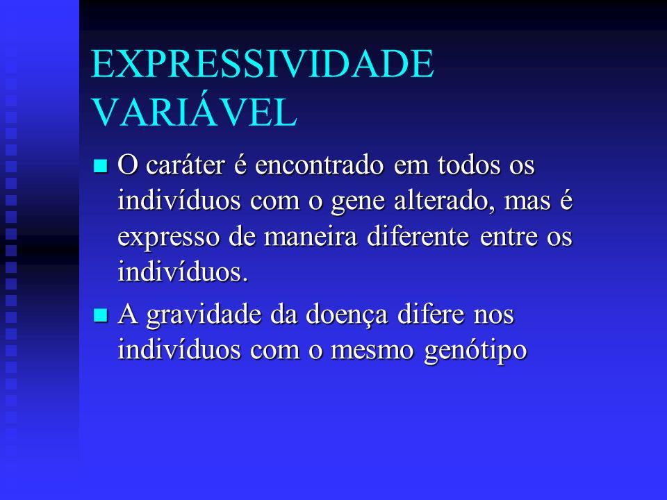 EXPRESSIVIDADE VARIÁVEL