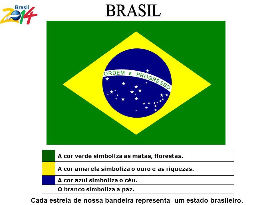 Cada estrela de nossa bandeira representa um estado brasileiro.