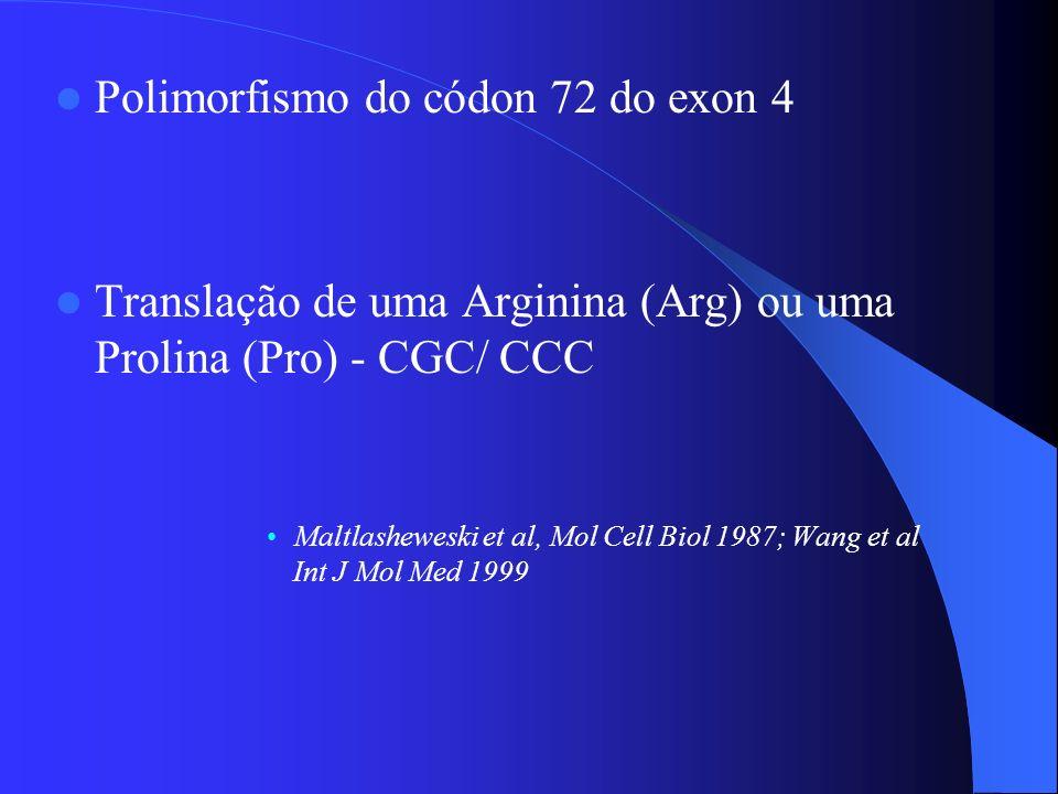 Polimorfismo do códon 72 do exon 4